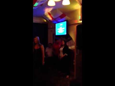 Sally Singing Karaoke. Kingsway Pub.