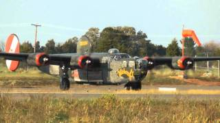 B-24 Liberator, Run Up, Take-off and Landing at KHWY on 10/12/10 at 1700