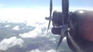 Consolidated B24 Liberator - Flying over Illinois