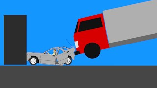 Crazy Car Crashes  Phun Algodoo Moments #8