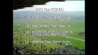 BBC racing Intro Cheltenham 1980 the opening clip race is the 1977 Massey Ferguson gold cup.
