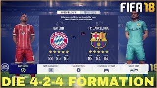 4-2-4 FORMATION - DAS COMEBACK?   WEITERE THEMEN: DEFENSIVE, TAKTIK!   FIFA 18 GAMEPLAY