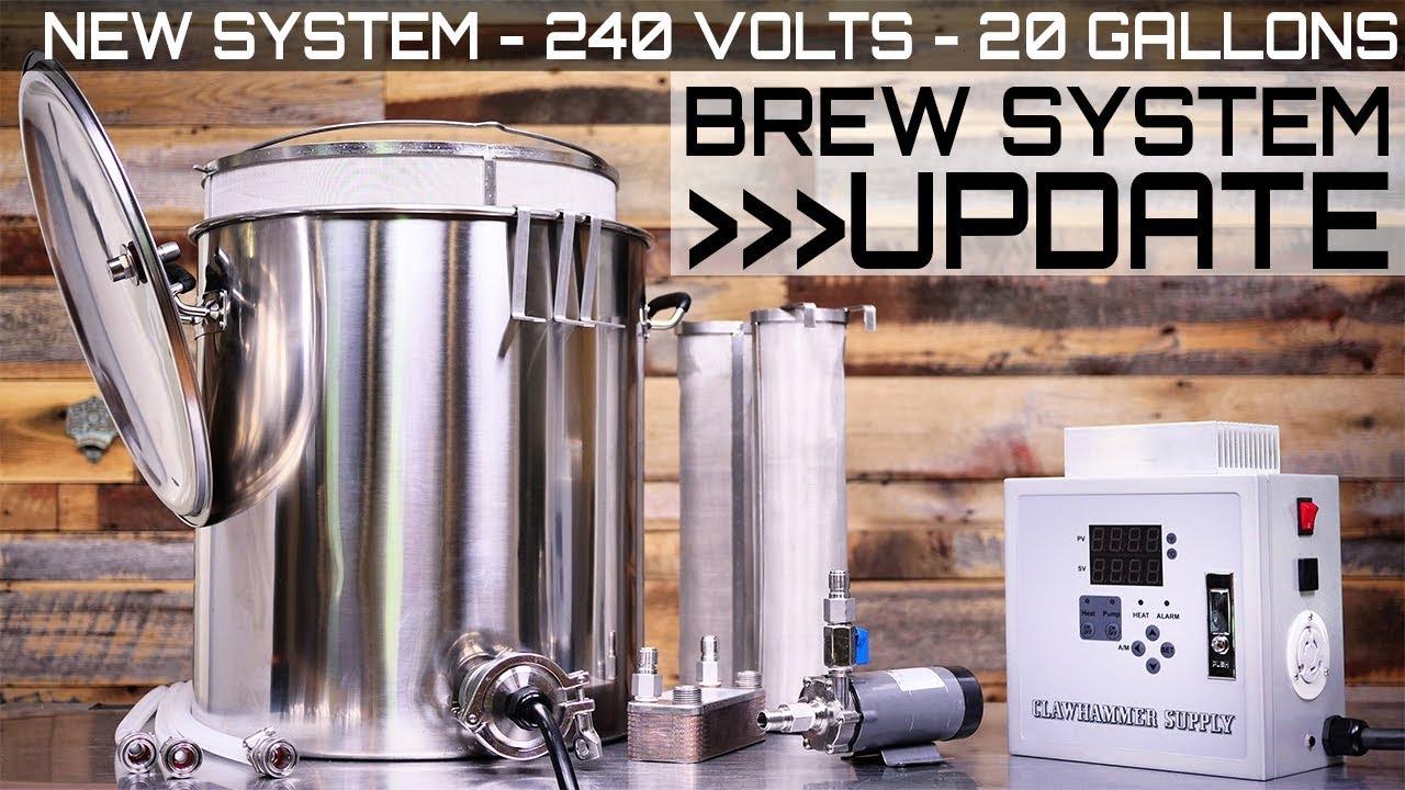 20 Gallon BIAB Electric Homebrew System Update