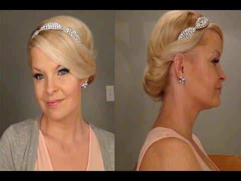 Headband Updo Hairstyle Youtube