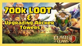 Clash of Clans - Beast LOOT! - ARCHER TOWERS FINALLY LVL 10!!
