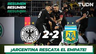 Resumen Y Goles   Alemania 2   2 Argentina   Amistoso Internacional   Tudn
