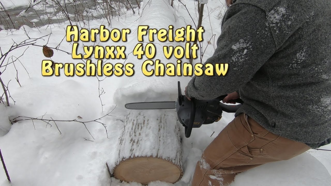 Harbor Freight LYNXX 40V Chainsaw: Unbox & Field Test
