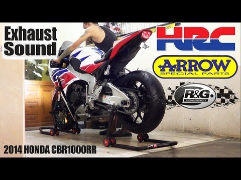 Honda CBR 1000RR HRC 2014 Exhaust ARROW Carbon Titanium 3/4 System 99%(istimewa)