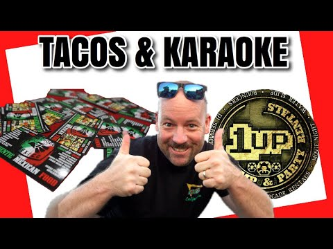 BEST KARAOKE SET UP AND BEST TACOS? (1UP Jump & Party Rentals & Hecho En Mexico Tacos)