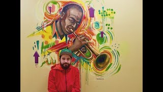 Hard Bop - Mural Painting at a Music Center
