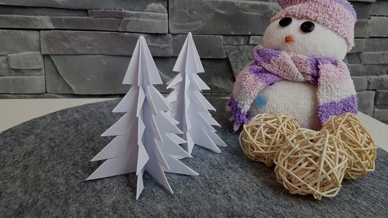 Origami Tannenbaum Faltanleitung