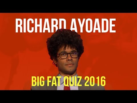 Richard Ayoade BIG FAT QUIZ COMPILATION | 2016
