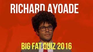 Richard Ayoade BIG FAT QUIZ COMPILATION | 2016