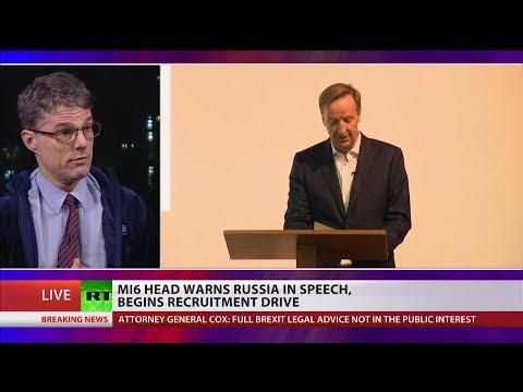 MI6 head warns Russia in speech, begins recruitment drive