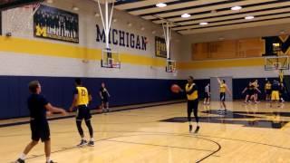 TheWolverine.com: Basketball practice Charles Matthews
