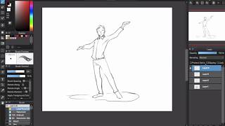 [How I Draw] How to Draw Pose and Fat people