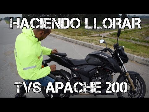 AL PAREDON TVS APACHE 200 #Haciendollorar #fullgass