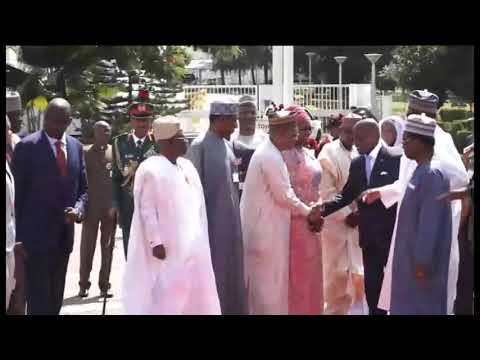 President Muhammadu Buhari receives President Jose Mario Vaz of Guinea Bissau