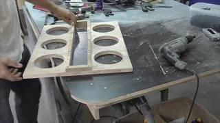 Короб для 6 сч динамиков с фазоинвертором Box for 6 midrange speakers with bass reflex