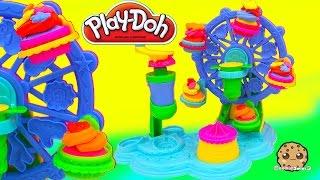 Playdoh Rainbow Cupcakes Maker Cupcake Celebration Ferris Wheel Playset - Cookieswirlc Video