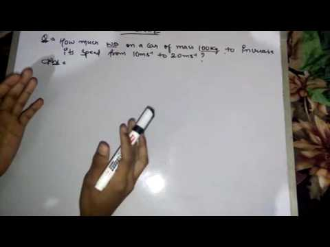 how to solve kinetic energy numericals