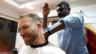 The ULTIMATE Indian HAIRCUT EXPERIENCE 4.0 -  Kerala Style | Trivandrum, India