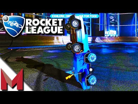 WORLD RECORD 44 SECOND VERTICAL CAR STACKING! -=- ROCKET LEAGUE GAMEPLAY -=- Ep166