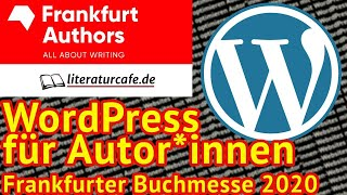 Live-Webinar: Autor*innen-Websites mit WordPress optimieren