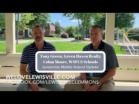Lewisville Middle School Update - Tony Green of WeLoveLewisville.com & Colon Moore of WSFCS