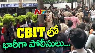 Police Deployed At CBIT Campus After Students Protest Intensifies Against College Management | NTV