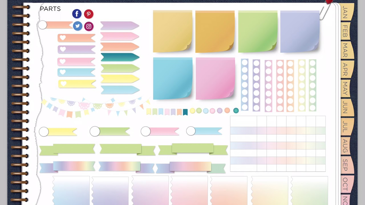 A wild plan denim and rainbow ombre goodnotes planner for Make a planner online