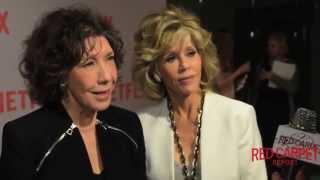 Lily Tomlin & Jane Fonda Interviewed at NETFLIX