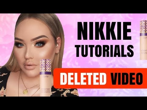 NIKKIE TUTORIALS TARTE MAKEUP SHAPE TAPE FOUNDATION DRAMA