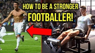 5 TIPS ON HOW TO BECOME A STRONGER AND FASTER FOOTBALLER!