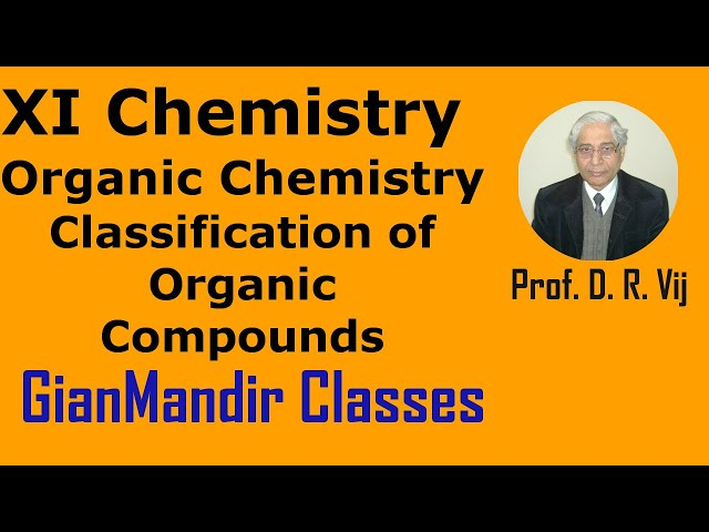 XI Chemistry - Classification of Organic Compounds by Ruchi Ma'am