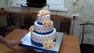 Свадебной в сине-персиковом цвете