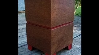 Wood Cremation Urn In Modernist Style
