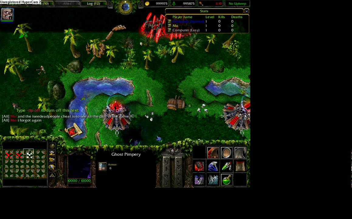 The most useful cheats for Warcraft 3 55