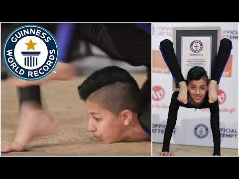 """Teenage """"Spider-Boy"""" from Palestine breaks contortion record - Guinness World Records"""