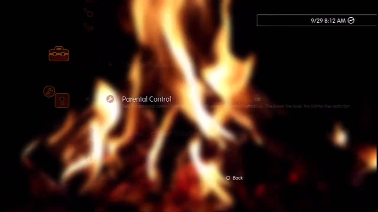 Crackling Fireplace PS3 Dynamic Theme