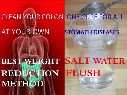 ONE CURE ALL STOMACH DISEASES  SALT WATER FLUSH WEIGHT REDUCTION FORMULA ! HOW TO CURE STOMACH PAIN