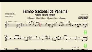 National Anthem of Panama Sheet Music for Clarinet Trumpet Tenor and Soprano Sax Himno Istmeño Bflat