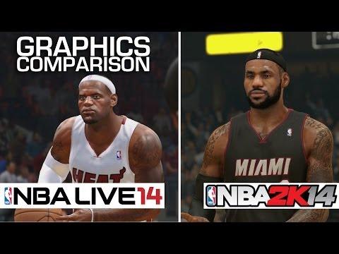 NBA 2K14 Vs NBA Live 14 - Graphics Comparison (PS4)