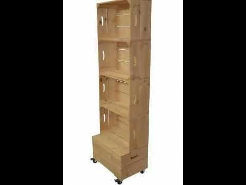 Muebles y cajas con palets y cajas de fruta youtube for Diseno de muebles con cajones de verduras
