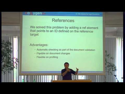 George Bina (Syncro Soft / oXygen XML Editor): An XML Solution for Legal Documents