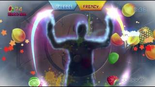 Fruit Ninja Kinect Single Player Challenge Gameplay (Xbox 360, Kinect)