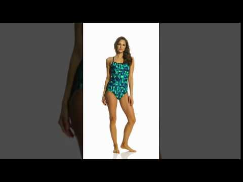 Nike Blurred Lines Lingerie Tank One Piece Swimsuit   SwimOutlet.com