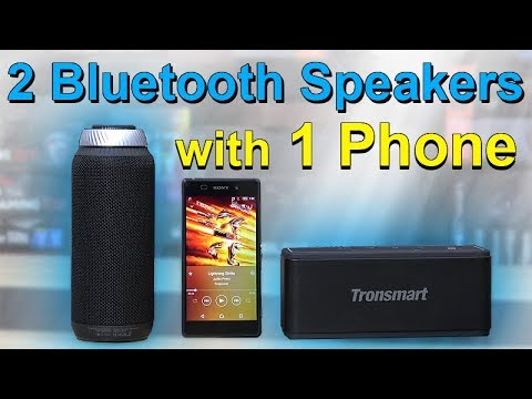 How to connect 2 bluetooth speakers at once