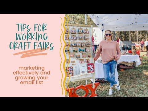 Tips for Working a Craft Fair as a Handmade Business