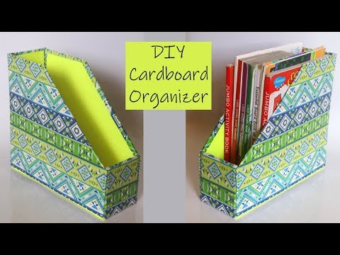 Cardboard Crafts | DIY Desk Organizer | Recycled Crafts Ideas